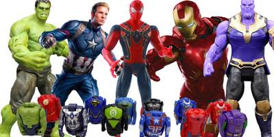 复仇者联盟3变形蛋玩具!绿巨人钢铁侠蜘蛛侠美国队长变形蛋变形