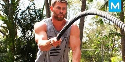 雷神为复仇者联盟4做准备,在家里疯狂健身,太男人了!