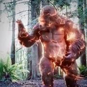 闪电侠和大猩猩合体之后,点亮满分技能,帅炸裂了