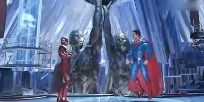 不义联盟系列:超人太厉害啦,居然要挑战闪电侠,猜猜谁会赢?