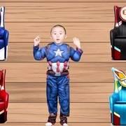 超级英雄神奇椅子游戏,萌宝变身钢铁侠和美国队长