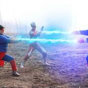 奥特曼真人版:美国队长变异,超人和奥特曼联手对战,能打败他吗