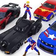 漫威蜘蛛侠、美国队长、福特野马车和DC蝙蝠侠车出现了!好酷炫!