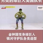 韩综  #综艺搞笑 #综艺 爆笑海报拍摄另类的绿巨人美国队长,金钟国变身绿巨人